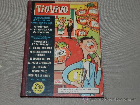 (M-22) TIO VIVO - LOTE DE 15 NUMEROS ENCUADERNADOS - EXTRAORDINARIO AL TERROR, VER LISTA (Tebeos y Comics - Bruguera - Tio Vivo)