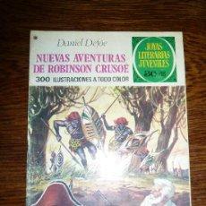 Tebeos: JOYAS LITERARIAS JUVENILES Nº 165 DANIEL DEFOE NUEVAS AVENTURAS DE ROBINSON CRUSOE AÑO 1978. Lote 30616016