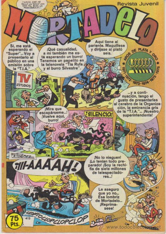 MORTADELO Nº 413. (Tebeos y Comics - Bruguera - Mortadelo)