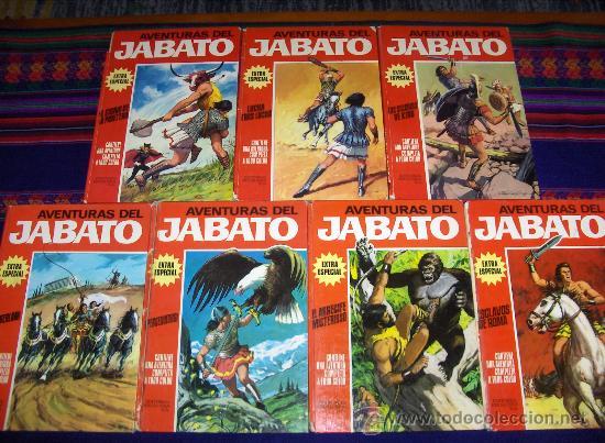 JABATO COLOR EXTRA ALBUM ROJO COMPLETA 8 NºS. BRUGUERA 1970. PRECIO DE GANGA!!!!!! (Tebeos y Comics - Bruguera - Jabato)