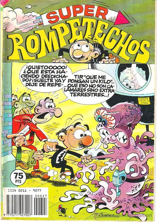 SUPER ROMPETECHOS Nº 27 BRUGUERA 1982 PERCEBE BASILIO CHICAGO AÑOS TREINTA MORTADELO ZIPI ZAPE (Tebeos y Comics - Bruguera - Otros)