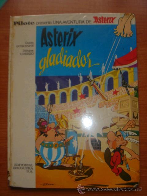 ASTERIX Y OBELIX, ASTERIX GLADIADOR, EDITORIAL BRUGUERA, 1ª EDICIÓN AÑO 1968, (Tebeos y Comics - Bruguera - Otros)