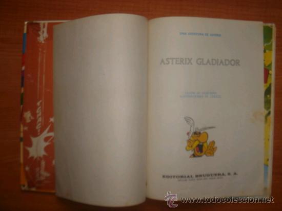 Tebeos: ASTERIX Y OBELIX, ASTERIX GLADIADOR, EDITORIAL BRUGUERA, 1ª EDICIÓN AÑO 1968, - Foto 3 - 31099653