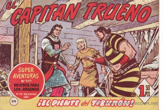 TEBEOS. COMIC. BRUGUERA. EL CAPITAN TRUENO. EL DIENTE DEL TIBURON. Nº 319 (Tebeos y Comics - Bruguera - Capitán Trueno)