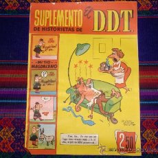 Tebeos: SUPLEMENTO DE HISTORIETAS DDT Nº 6 CON JABATO. BRUGUERA 1959. 2,50 PTS. DIFÍCIL!!!!!!!!!!!!!!. Lote 31168198