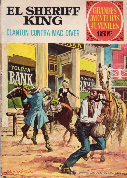 EL SHERIFF KING. CLANTON CONTRA MAC DIVER. GRANDES AVENTURAS JUVENILES Nº 14. EDITORIAL BRUGUERA. (Tebeos y Comics - Bruguera - Sheriff King)