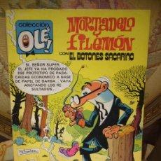 Tebeos: COLECCION OLE. MORTADELO Y FILEMON CON EL BOTONES SACARINO. EDITORIAL BRUGUERA 1.981.. Lote 31198762