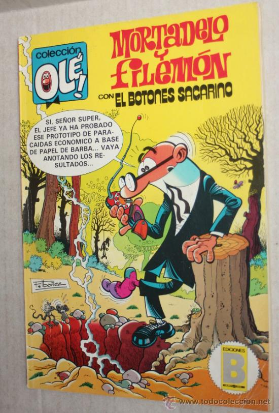 COLECCION OLE (FORMATO AÑOS 80) Nº 233 (M.28): MORTADELO Y FILEMON CON EL BOTONES SACARINO. (Tebeos y Comics - Bruguera - Ole)