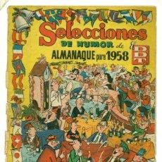 Tebeos: SELECCIONES DDT ALMANAQUE 1958 - SOLO ES LA PORTADA Y EL 1º CUADERNILLO. Lote 32165025