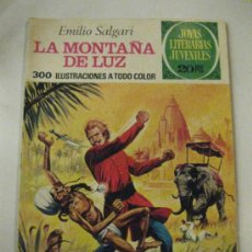 Tebeos: LA MONTAÑA DE LUZ. EMILIO SALGARI. JOYAS LITERARIAS JUVENILES Nº 121.1ª ED. 1975.. Lote 63817083