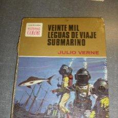 Tebeos: VEINTE MIL LEGUAS DE VIAJE SUBMARINO. JULIO VERNE. COLECCIÓ HISTORIAS COLOR. BRUGUERA. Lote 32083676