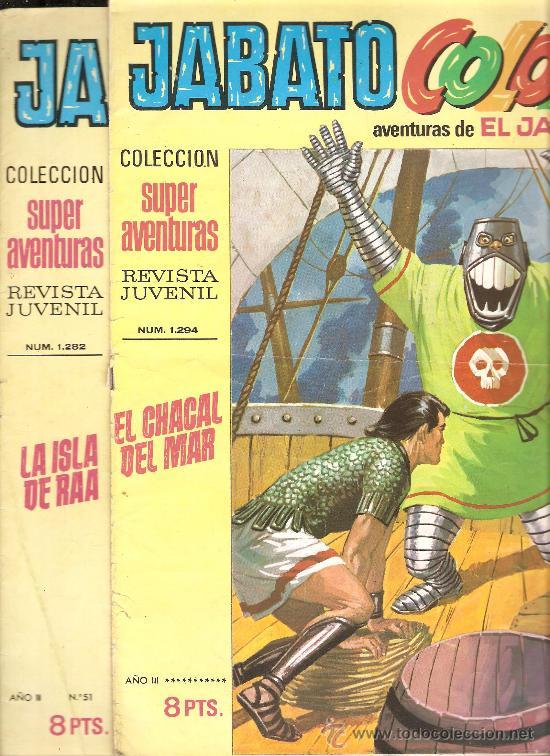 JABATO COLOR - EDICION 1970-71 - LOTE DE 6 NUMEROS (Tebeos y Comics - Bruguera - Jabato)