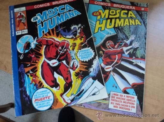 LA MOSCA HUMANA; NÚMEROS 1 Y 3. COMICS BRUGUERA; AÑO 1978 (Tebeos y Comics - Bruguera - Otros)