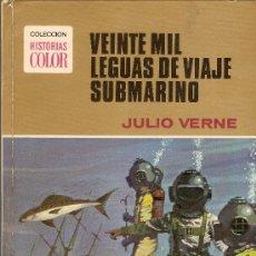 Tebeos: VEINTE MIL LEGUAS DE VIAJE SUBMARINO - JULIO VERNE - COLECCION HISTORIAS COLOR - Nº1 - 1972. Lote 32452990