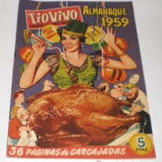 Tebeos: TIO VIVO - ALMANAQUE 1959 - 1 DURO (EXTRAORDINARIO ESTADO). Lote 32663938