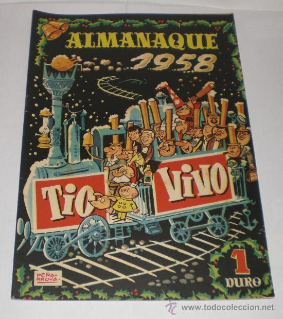 TIO VIVO - ALMANAQUE 1958 - 1 DURO (EXTRAORDINARIO ESTADO) (Tebeos y Comics - Bruguera - Tio Vivo)