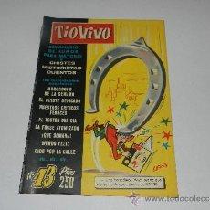 Tebeos: (M-10) TIO VIVO NUM 13 - EDT BRUGUERA , SEÑALES DE USO, LOMO CON MARCAS. Lote 32712708
