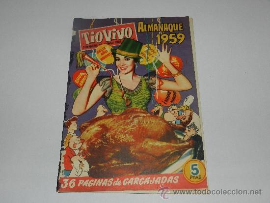 (M-10) TIO VIVO ALMANAQUE 1959 , EDC CLIPER, SEÑALES EN EL LOMO (Tebeos y Comics - Bruguera - Tio Vivo)