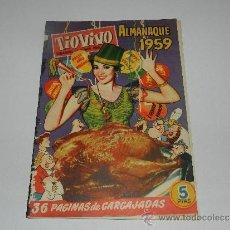 Tebeos: (M-10) TIO VIVO ALMANAQUE 1959 , EDC CLIPER, SEÑALES EN EL LOMO. Lote 32712980