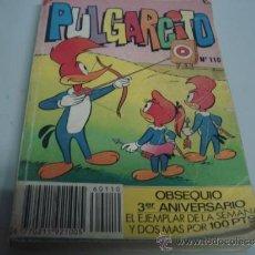 Tebeos: PULGARCITO N 110 CURIOSO. Lote 32807997