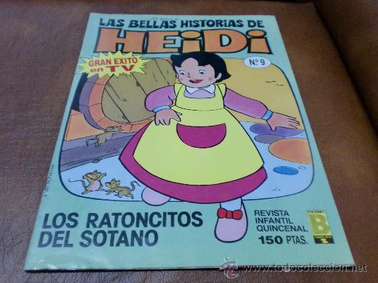 TBO.Nº 9 LAS BELLAS HISTORIAS DE HEIDI.- AÑO 1987 (Tebeos y Comics - Bruguera - Otros)