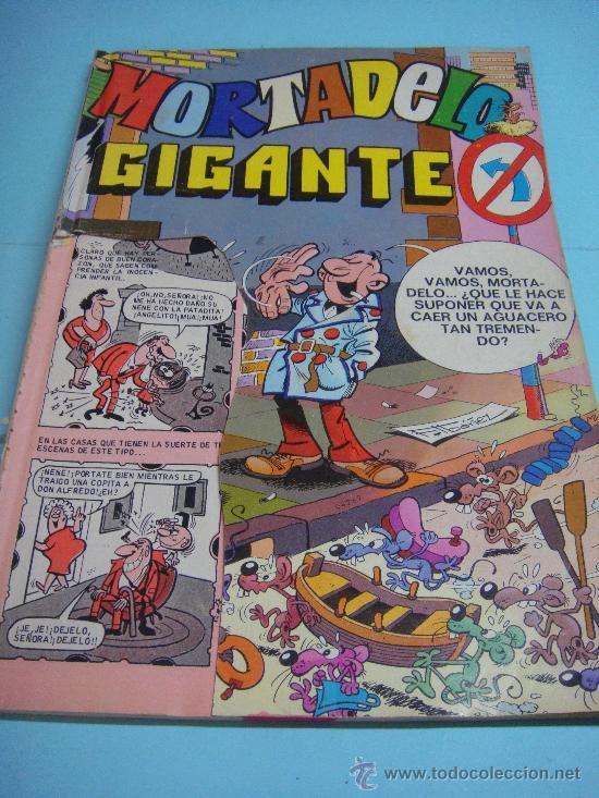 COMIC. MORTADELO GIGANTE Nº 7. ED. BRUGUERA AÑO 1976. PORTADA MÁS DOS PRIMERAS HOJAS RECORTADAS (Tebeos y Comics - Bruguera - Mortadelo)