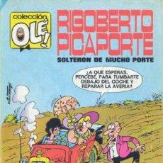 Giornalini: RIGOBERTO PICAPORTE SOLTERON DE MUCHO PORTE - COLECCION OLE BRUGUERA Nº 7. Lote 47287976