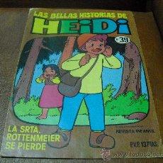 Tebeos: TBO LAS BELLAS HISTORIAS DE HEIDI Nº 39. Lote 33764837