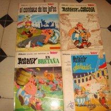 Tebeos: LOTE 4 AXTERIX EL COMBATE DE LOS JEFES, GLADIADOR, EN CORCEGA Y EN BRETAÑA , AÑO 66/69, . Lote 33960928