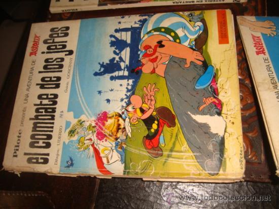 Tebeos: lote 4 axterix el combate de los jefes, gladiador, en corcega y en bretaña , año 66/69, - Foto 3 - 33960928