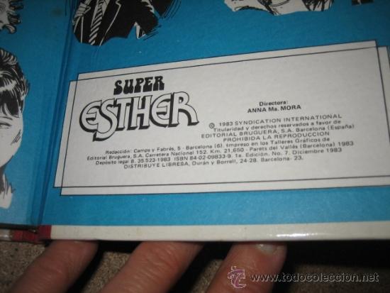 Tebeos: SUPER ESTHER Nº 7 DE BRUGUERA 1ª EDICION 1983 - Foto 5 - 34017132