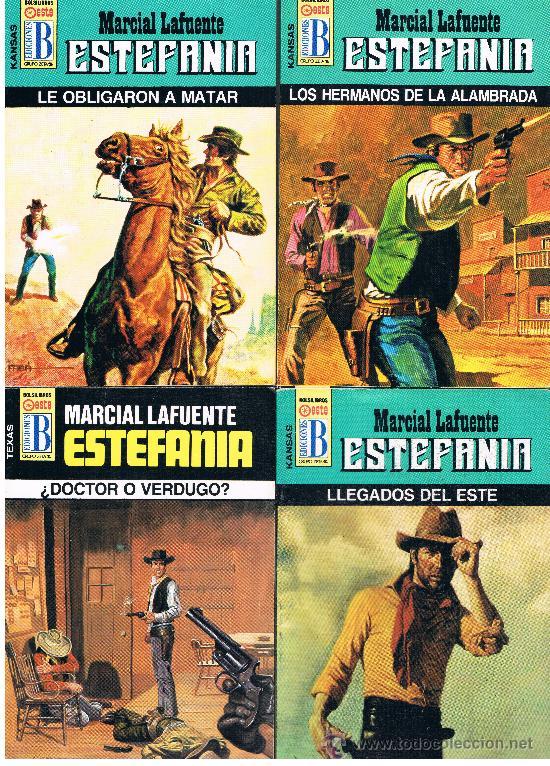 MARCIAL LAFUENTE ESTEFANIA 4 NOVELAS NUEVAS LOTE Nº 9 (Tebeos y Comics - Bruguera - Cuadernillos Varios)
