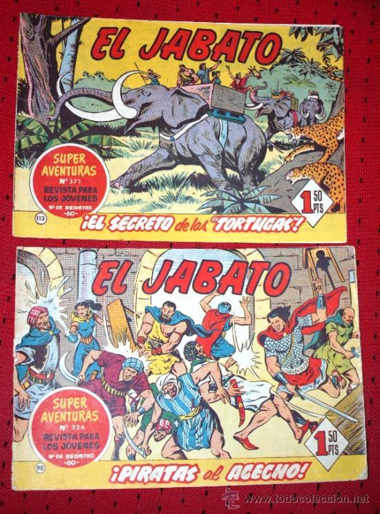 EL JABATO Nº98: ¡PIRATAS AL ACECHO! + Nº113: ¡EL SECRETO DE LAS TORTUGAS! (Tebeos y Comics - Bruguera - Jabato)
