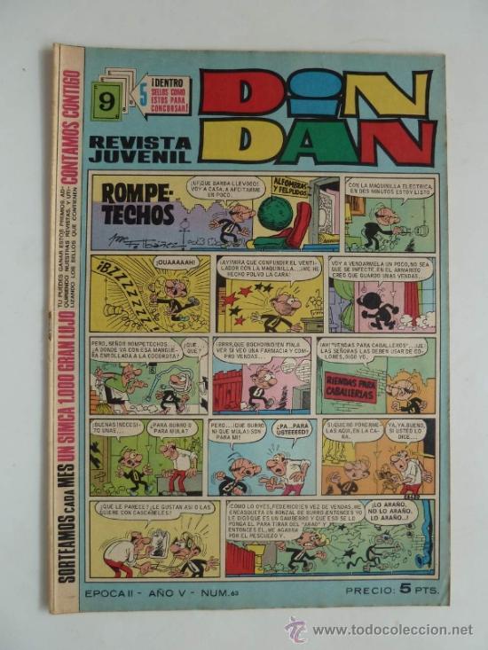 DIN DAN Nº 63. BRUGUERA 5 PTS. (Tebeos y Comics - Bruguera - Din Dan)