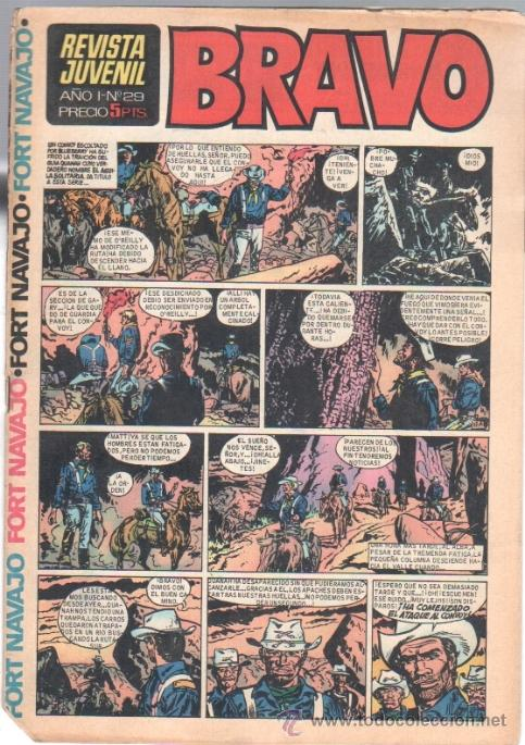BRAVO Nº 29 EDI. BRUGUERA 1968 -,MICHEL TANGUY UDERZO,GRAND PRIX, BLUEBERRY (Tebeos y Comics - Bruguera - Bravo)