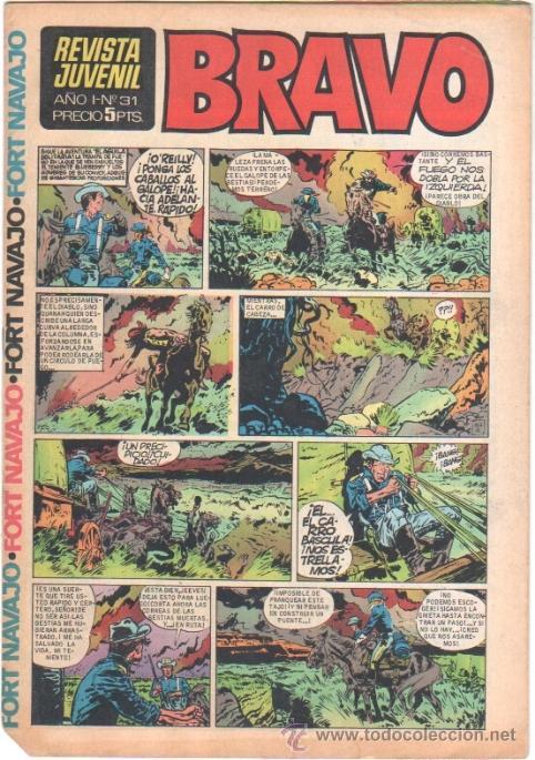 BRAVO Nº 31 EDI. BRUGUERA MICHEL TANGUY UDERZO, BLUEBERRY GIR,DOC FORAN,ALFONSO FIGUERAS TOPOLINO, (Tebeos y Comics - Bruguera - Bravo)