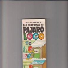 Tebeos: LAS SORPRESAS DE PÁJARO LOCO HEROES INFANTILES 1ª EDICIÓN FEBRERO 1969 BRUGUERA . Lote 35012710