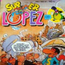 Tebeos: COMIC SUPER LÓPEZ AÑO 1 Nº 1 CON DIBUJOS DE JAN 1985 NUEVO. Lote 118537758