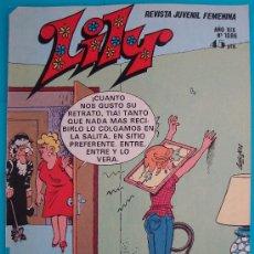 Tebeos: REVISTA LILY Nº 1086, REVITA JUVENIL FEMENINA AÑO XIX POSTER DE ANABELEN Y ANGELA MOLINA. Lote 35882109