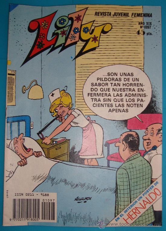 LILY REVISTA JUVENIL FEMENINA, AÑO XIX Nº 1097 EMMA ES ENCANTADORA POSTER DE HERNALDO (Tebeos y Comics - Bruguera - Lily)