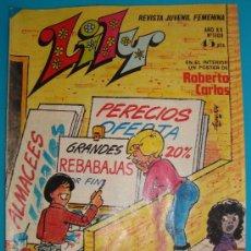 Tebeos: REVISTA LILY Nº 1108 EMMA REVISTA JUVENIL FEMENINA AÑO XX POSTER DE ROBERTO CARLOS. Lote 35883795