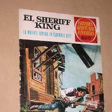 Tebeos: GRANDES AVENTURAS JUVENILES 16. SHERIFF KING: MUERTE ESPERA EN CRUMBLE CITY. BRUGUERA, 1972. MORA. +. Lote 36155026
