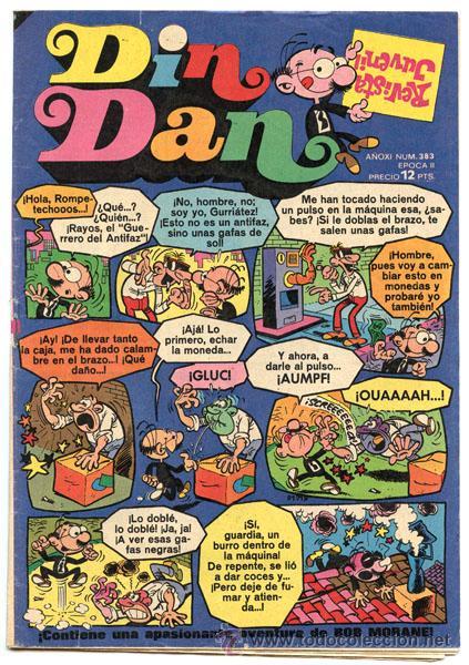 DIN DAN - EPOCA II - Nº 383 - ED. BRUGUERA - 1975 (CON BOB MORANE) (Tebeos y Comics - Bruguera - Din Dan)