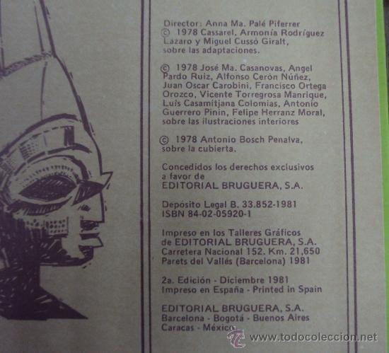 Tebeos: FAMOSAS NOVELAS TOMO XI. BRUGUERA 1982 2ª ED - Foto 3 - 36356253