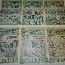 Tebeos: (M-21) LA PATRULLA DE LA MUERTE , COMPLETA 6 CUADERNOS HEROES, EDT BRUGUERA, . Lote 36370600