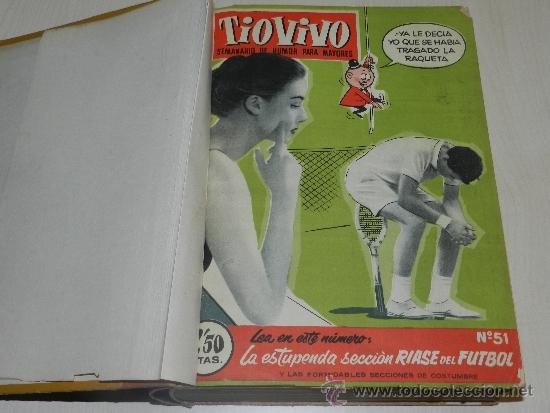 (M) TIO VIVO AÑO II 1958 , DEL NUM 51 AL NUM 100 + ALMANAQUE 1959, FALTAN LOS NUM 72 - 73, (Tebeos y Comics - Bruguera - Tio Vivo)