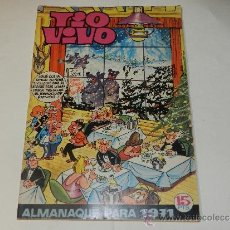 Tebeos: (M-10) TIO VIVO ALMANAQUE PARA 1971 - EDT BRUGUERA , POCAS SEÑALES DE USO. Lote 37143066
