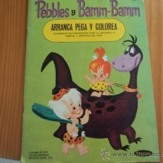Tebeos: PEBBLES Y BAMM - BAMM. ARRANCA, PEGA Y COLOREA, Nº 1 . HANNA BARBERA. 1970. Lote 37372653