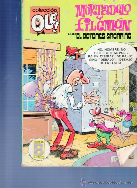 COLECCIÓN OLÉ! Nº 262 - M 47. EDICIONES B. MORTADELO Y FILEMÓN CON EL BOTONES SACARINO. EDICIÓN 1987 (Tebeos y Comics - Bruguera - Ole)