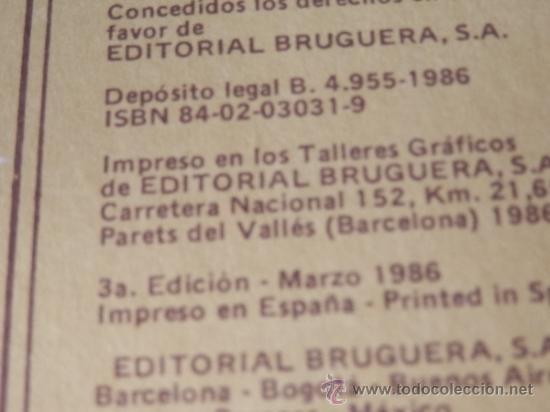 Tebeos: FAMOSAS NOVELAS TOMO Num. 3 - BRUGUERA 1986 - Foto 10 - 40485336
